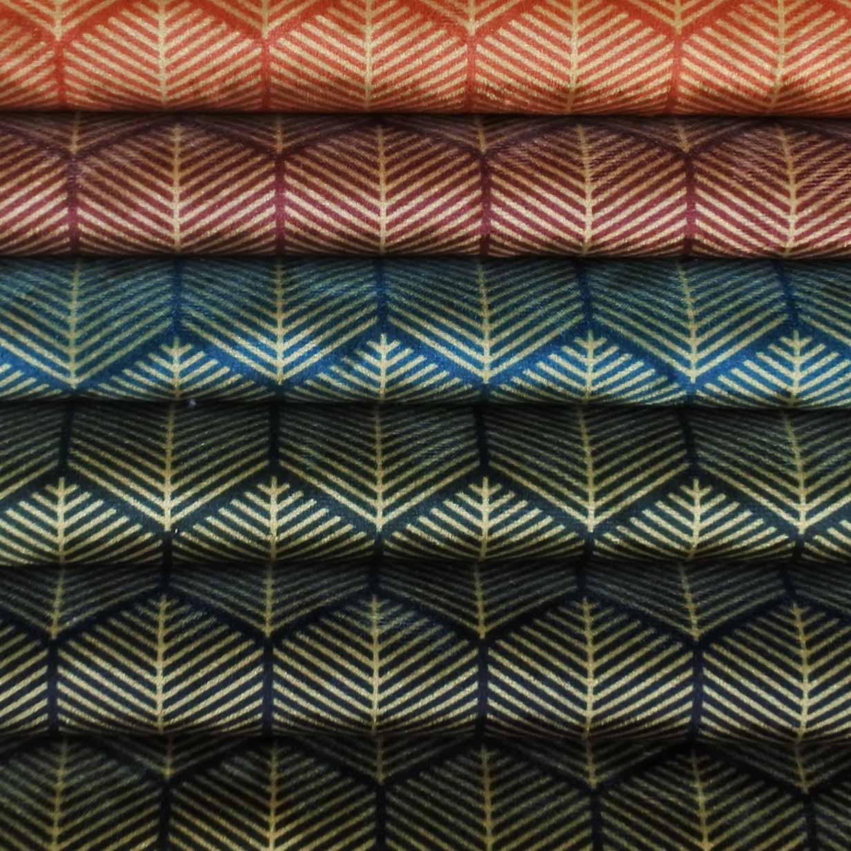 9. Ice Velvet 18105 Geometric Lines