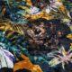 Meubelstof Ice Velvet 20071 Flowerleaves - 2854-ocre