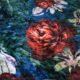 Meubelstof Ice Velvet 20071 Flowerleaves - 5007-blue