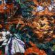 Meubelstof Ice Velvet 20071 Flowerleaves - 8017-sienna