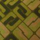 Meubelstof Ella 20076 Sixties Tiles - 6006-olive