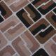 Meubelstof Ella 20076 Sixties Tiles - 8011-bamboo