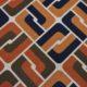 Meubelstof Ella 20076 Sixties Tiles - 8023-camel