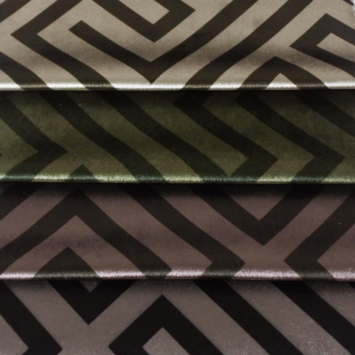 Meubelstof Italian Velvet 20088 Geometric