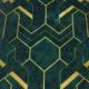 Meubelstof Ice Velvet 21022 Art Deco - 6030-leaves