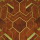 Meubelstof Ice Velvet 21022 Art Deco - 8018-bronze