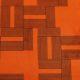 Meubelstof Monroe 20013 Labyrinth - 2004-orange