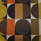 Meubelstof Ella 21109 Blocked Circles - 9999-black