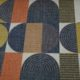 Meubelstof Riviera 21109 Blocked Circles - 9999-black